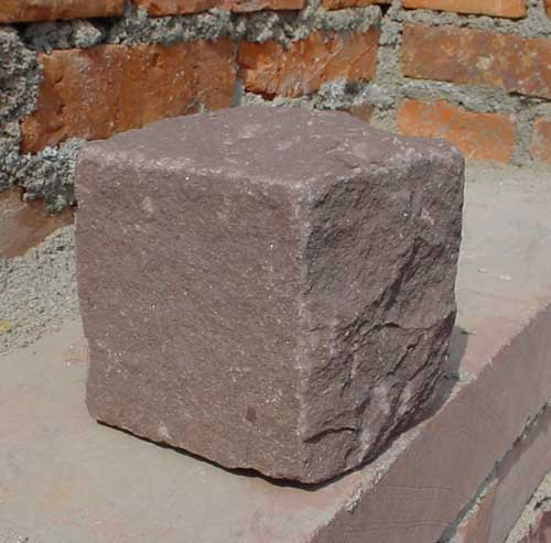 dull-red sandstone cube,sandstone paver