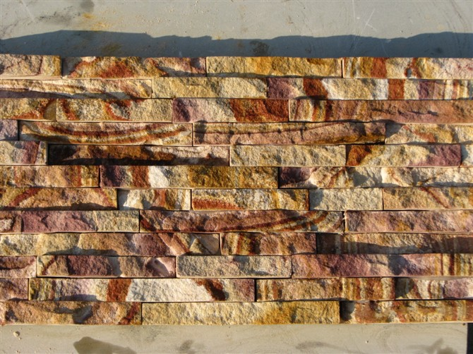 yellow sandstone wall culture slate