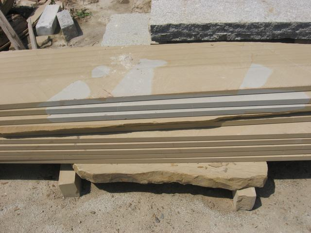Double color sandstone slab